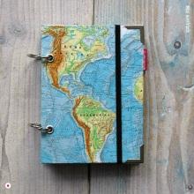 Weltkarte Reisetagebuch Wunschlandbummler - einmal um die ganze welt reisen