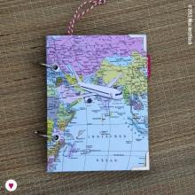 Weltkarte für eine Stewardess