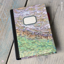 Nepal Weltkarte Reisetagebuch Wunschlandbummler