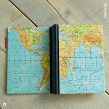 Miss Herzfrischs Wunschlandbummler Reisetagebuch mit Weltkarte - einmal um die ganze welt reisen