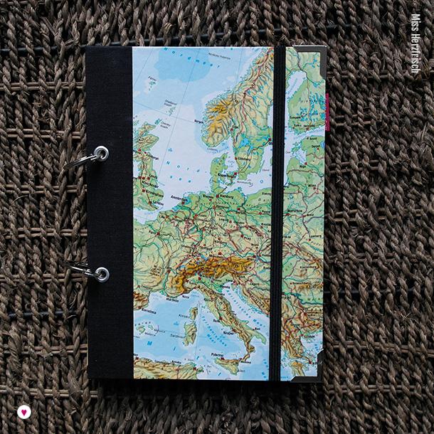 Europakarte Reisetagebuch Wunschlandbummler