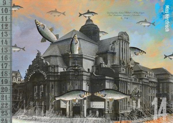 Vintage Postkarte Wuppertal * Thalia Theater