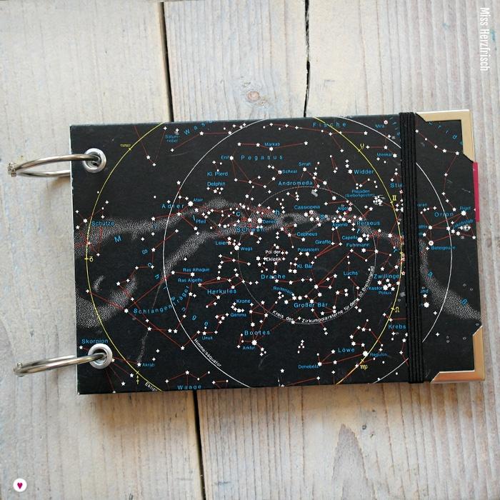Miss Herzfrischs Sternenhimmel Vergissmeinnicht Notizbuch