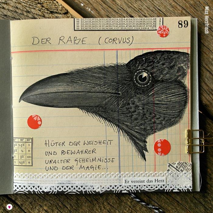 Miss Herzfrischs Oktobercollagen Ideensammler - der Rabe