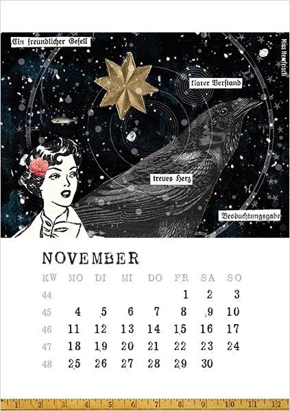 Miss Herzfrischs Papiergeschichten Kalender 2019-november