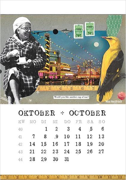Miss Herzfrischs Papiergeschichten Kalender 2019-oktober