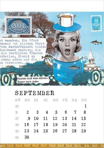 Miss Herzfrischs Papiergeschichten Kalender 2019-september