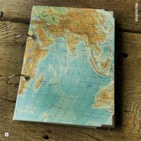 Miss Herzfrischs Wunschlandbummler Weltkarte Reisetagebuch