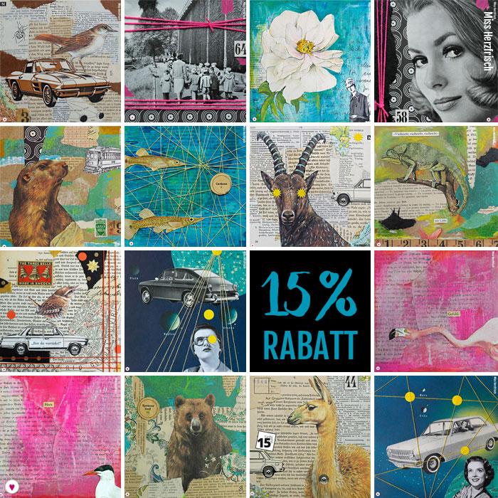 Heute gibt es 15fünfzehn Collagen im Herzfrisch Shop und Kreativlabor!