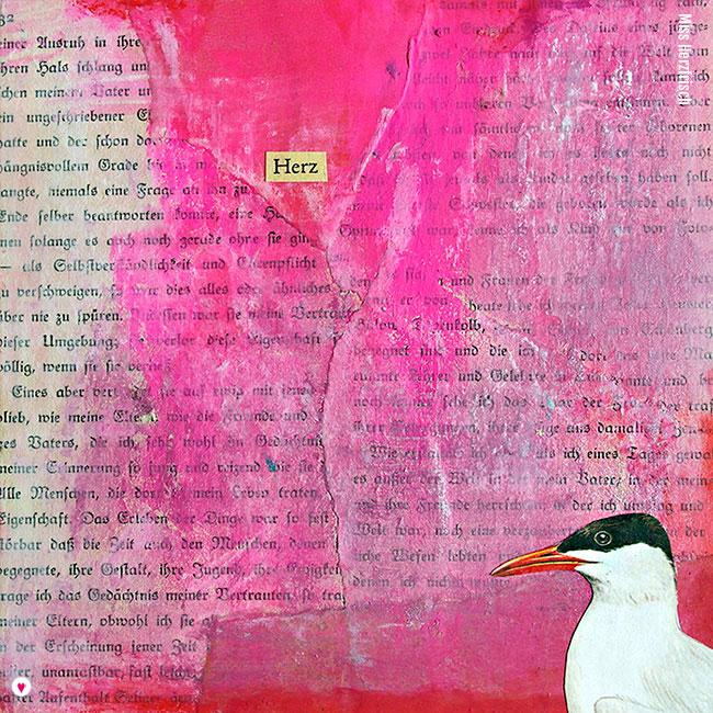 Miss Herzfrisch Collage 15fünfzehn Sommeraugenblick * Herz
