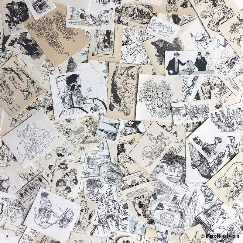 Vintage Collage Pack * Buchillustrationen