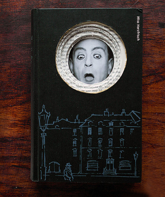 Drawing challenge: Miss Herzfrischs Collageschublade the Unexpected Buchskulptur