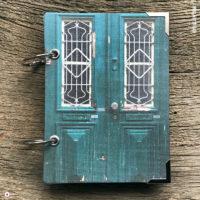 Miss Herzfrisch Notizbuch - Vergissmeinnicht grüne Tür