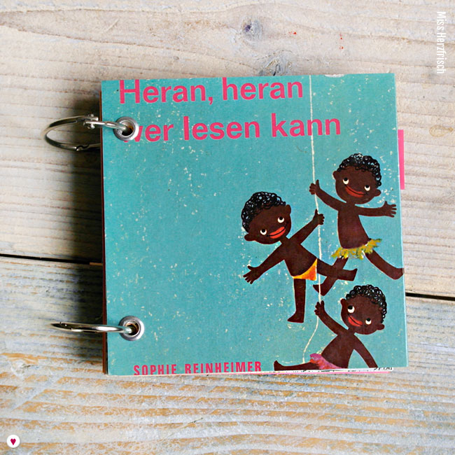 Miss Herzfrischs Heran Heran wer lesen kannVergissmeinnicht Notizbuch