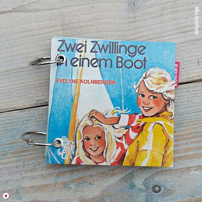 Miss Herzfrischs Retro Notizbuch Zwei Zwillinge in einem Boot