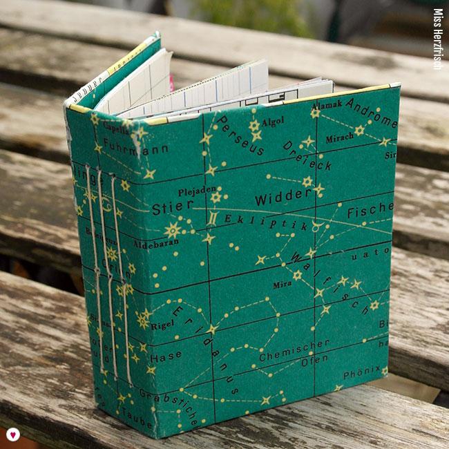 Miss Herzfrischs Minibuch Sternenhimmel Cover