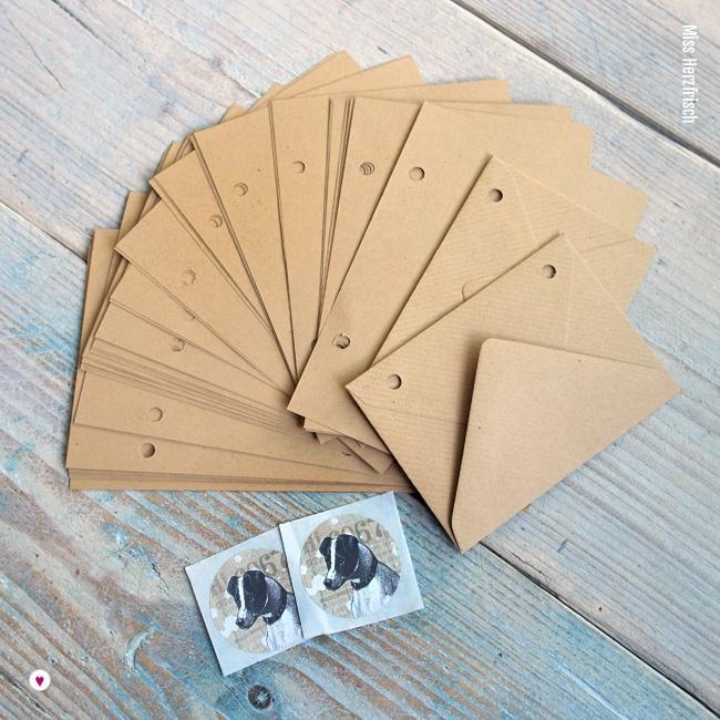 Miss Herzfrischs Innenseiten Papierpack braun
