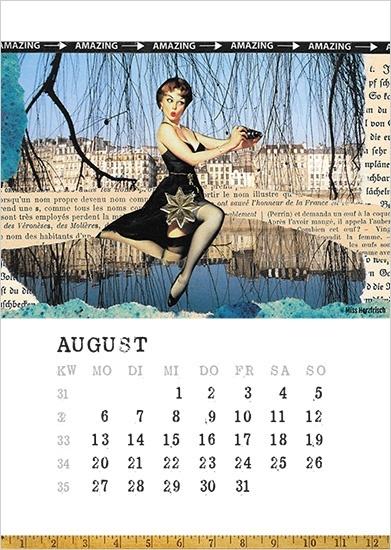 Miss Herzfrischs Papiergeschichten Kalender 2018