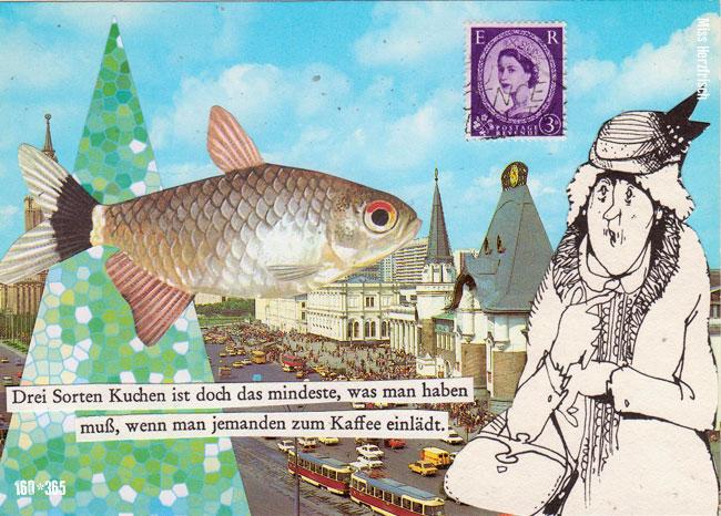 Miss Herzfrischs Postkartengruss Fischgefüster