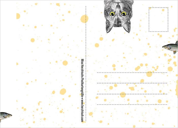 Miss Herzfrischs Katzen Postkartengruß - if you see what i mean