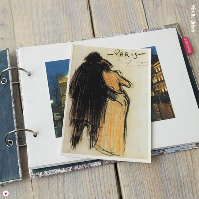 Miss Herzfrischs Geschichtenerzähler Wunschlandbummler Reisetagebuch Fotoalbum Paris Innenseiten