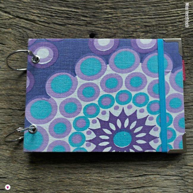 Miss Herzfrischs Blue Circles Vergissmeinnicht Notizbuch