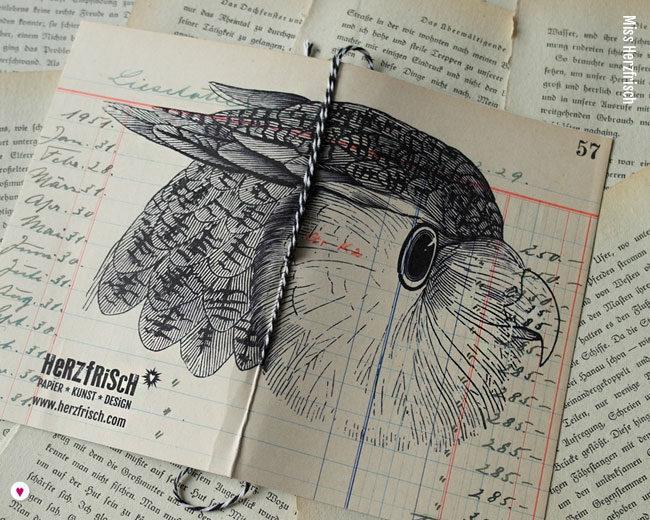Miss Herzfrischs Ideensammler Waldtiere Notizheft Eule