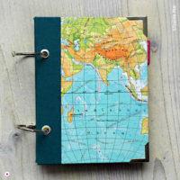 Miss Herzfrischs Wunschlandbummler Reisetagebuch Weltkarte