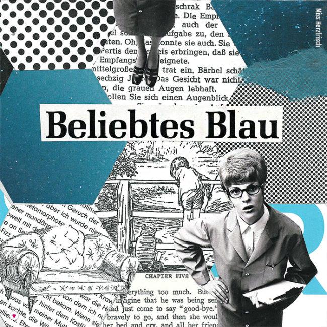 Miss Herzfrischs 15fünfzehn Hexagone Collage - beliebtes Blau
