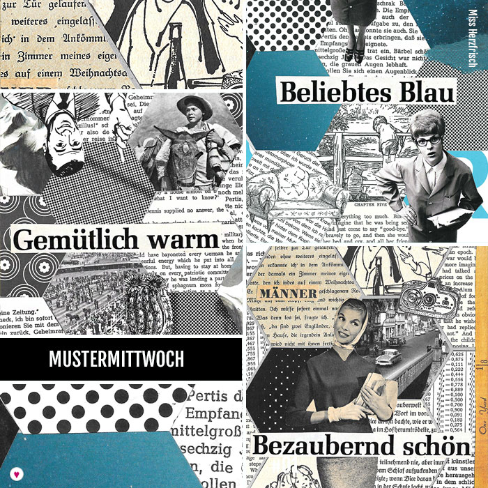 Miss Herzfrischs 15fünfzehn Hexagone Collage