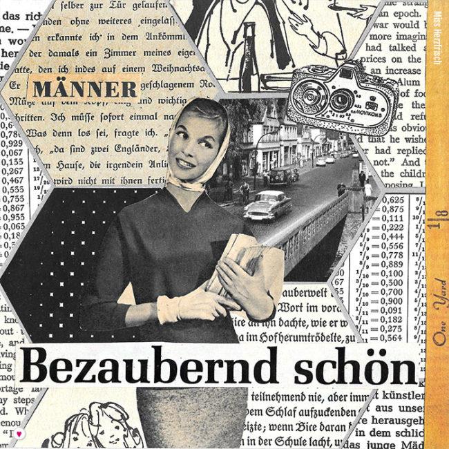 Miss Herzfrischs 15fünfzehn Hexagone Collage - bezaubernd schön