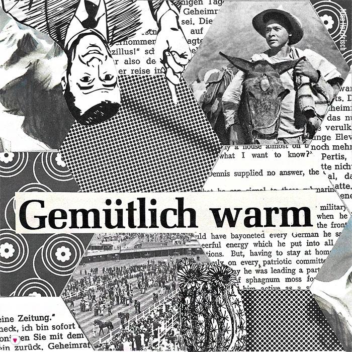 Miss Herzfrischs 15fünfzehn Hexagone Collage - gemütlich warm