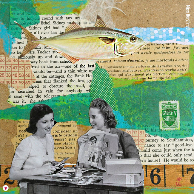 Miss Herzfrischs 15fünfzehn Collage – Schnipseleien am Wochenende