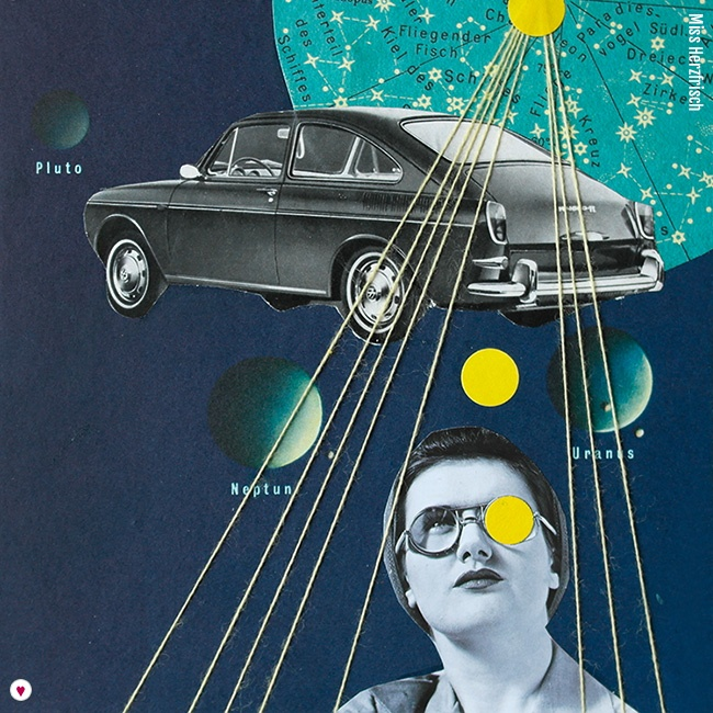 Miss Herzfrischs 15fünfzehn Collage – Space Cars