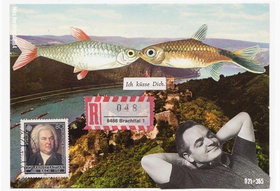Miss Herzfrischs 365 Postkartengrüße – Schöne Träume * Nice dreams