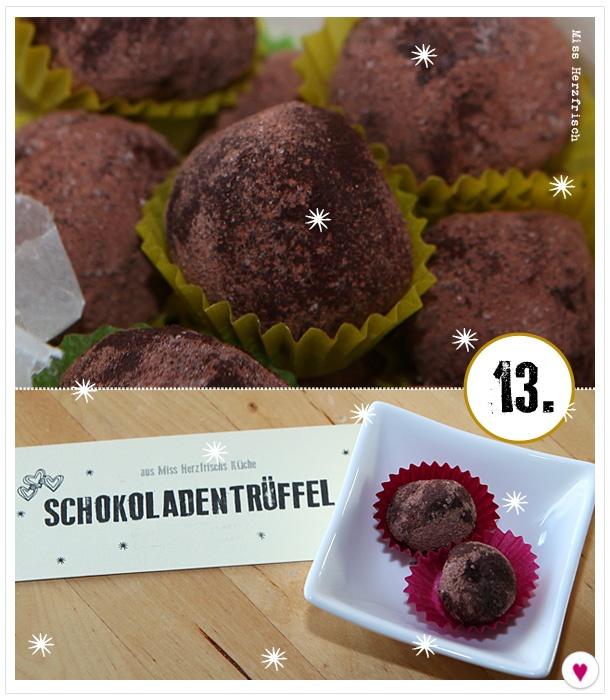 Miss Herzfrischs Adventskalender 13.Türchen2012 Schokoladentrüffel Rezept