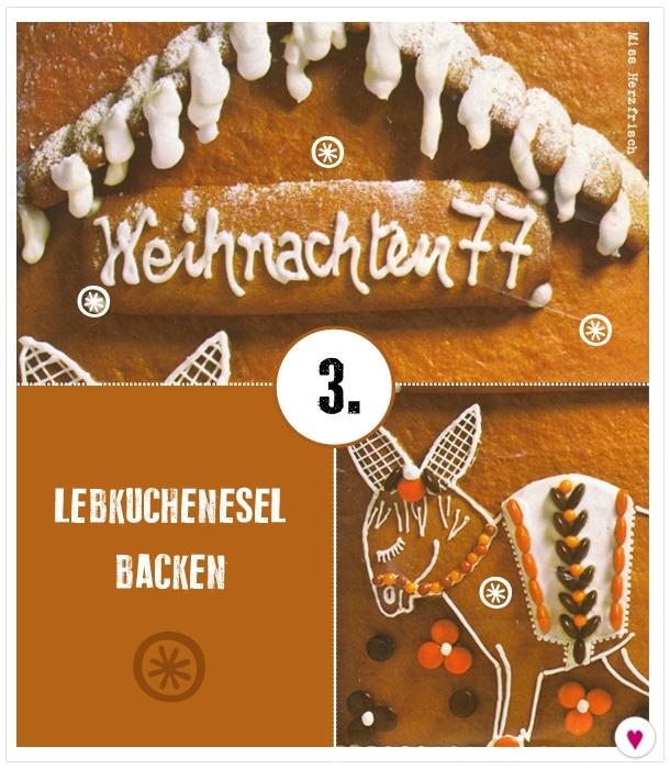 Miss Herzfrischs Adventskalender 3. Türchen – Lebkuchenesel backen