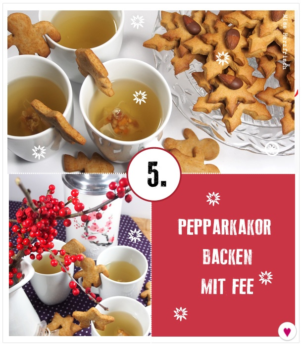 Miss Herzfrischs Adventskalender - 5 Türchen - Backen mit Fee