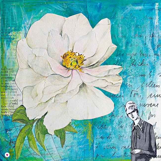 Miss Herzfrisch Collage 15fünfzehn Blue Rose