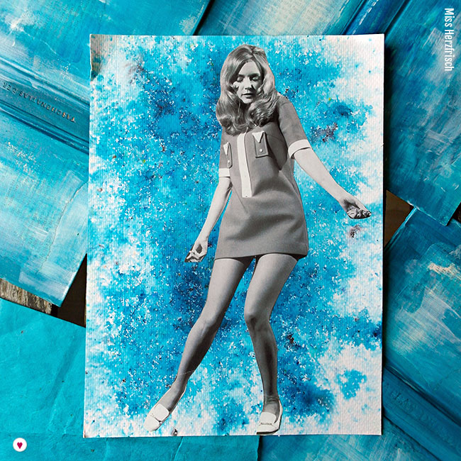 Miss Herzfrisch Collage - Feeling Blue - Experimente in Blau