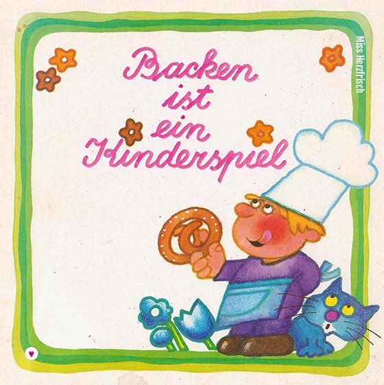 Miss Herzfrischs vintage Fundstück Backen ist ein Kinderspiel