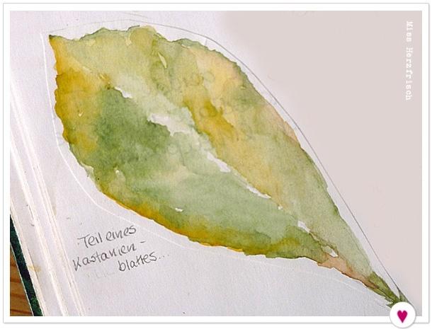 Miss Herzfrischs Drawing Challenge Leaves Skizzenbuch