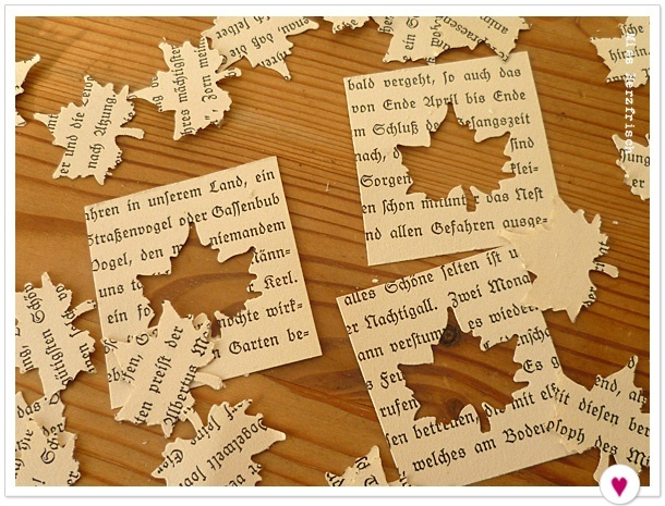 Miss Herzfrischs Drawing Challenge Leaves Vintage book pages