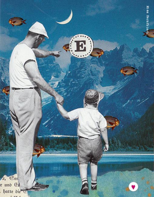 Miss Herzfrischs Fliegende Fische Collage