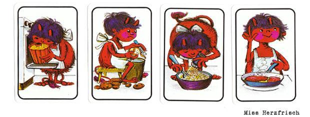 Spiel Fehlerteufel 1974 zum Schreiben lernen.