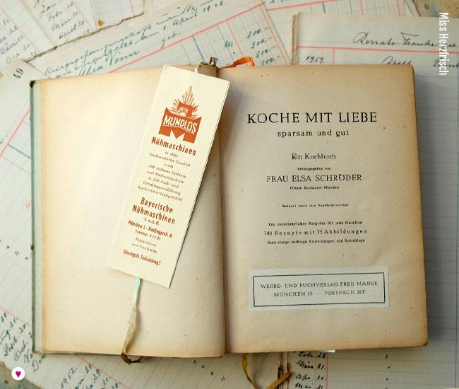 Miss Herzfrischs Flohmarktfundstücke - Kochen mit Liebe 1949