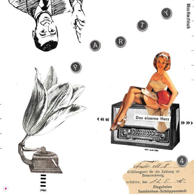 Miss Herzfrischs Originalcollage Tulpophone