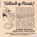 Aus Miss Herzfrischs Fundkiste alte Anzeige