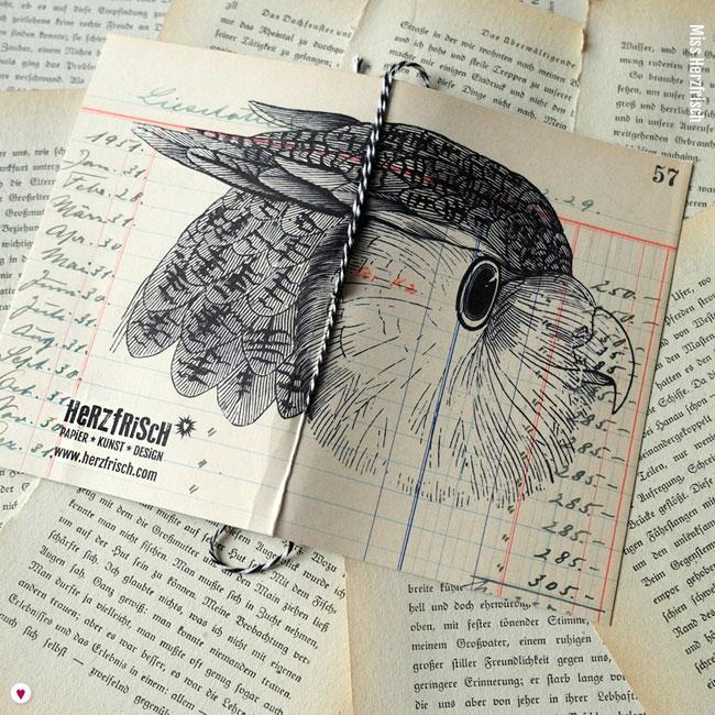 Miss Herzfrischs Ideensammler Eule Notizheft