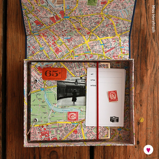 Miss Herzfrischs London Reisealbum Box